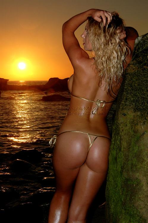 Mallory Clark in a bikini - ass