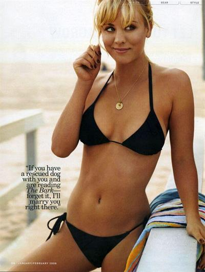 Kaley Cuoco in a bikini