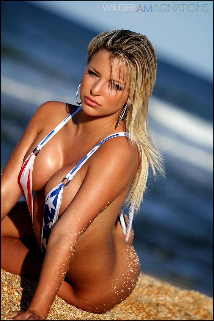Nicole Hampton in a bikini