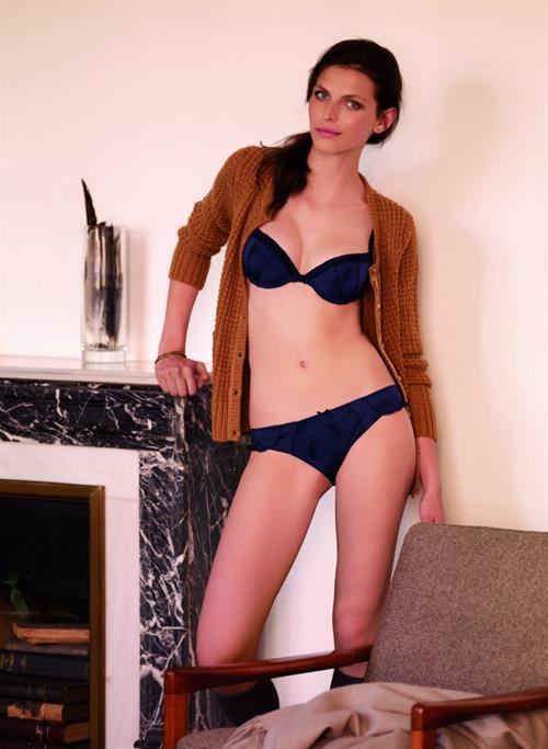 Karlina Caune in a bikini