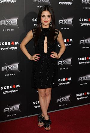 Lucy Hale at the Scream 4 Premiere at Graumans Chinese Theatre in Hollywood April 11, 2011