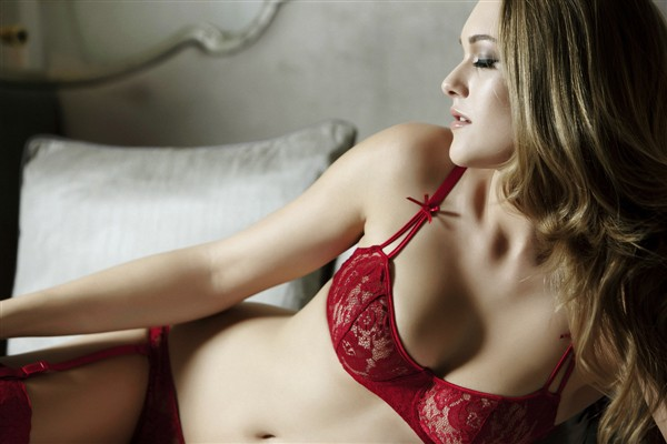Holly Haerr in lingerie