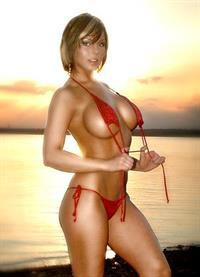 Corrie Loftin in a bikini