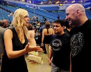 Laura Prepon at the UFC 87 Seek and Destroy Weigh In