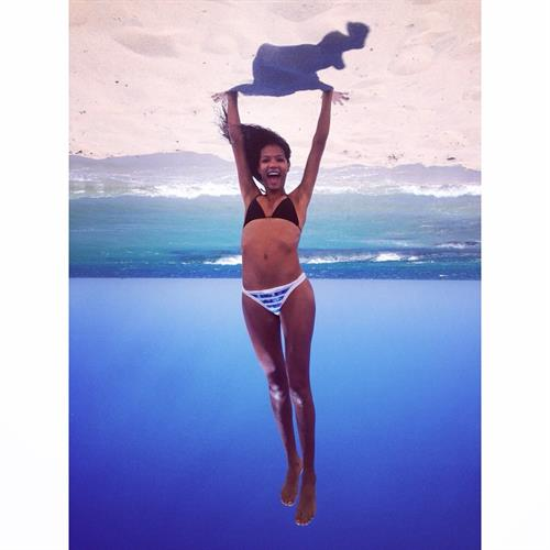 Ariela Oliveira in a bikini