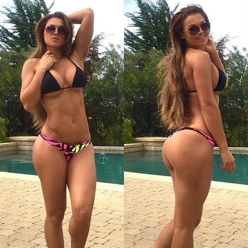 Julia Gilas in a bikini