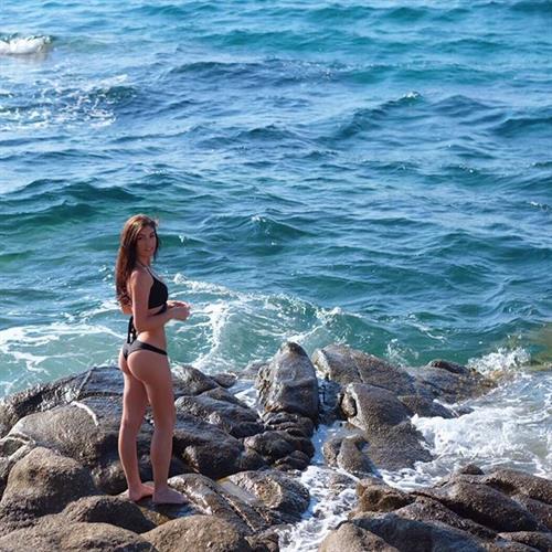 Christy May in a bikini - ass