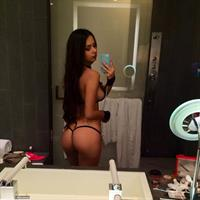 Helga Lovekaty in lingerie taking a selfie and - ass