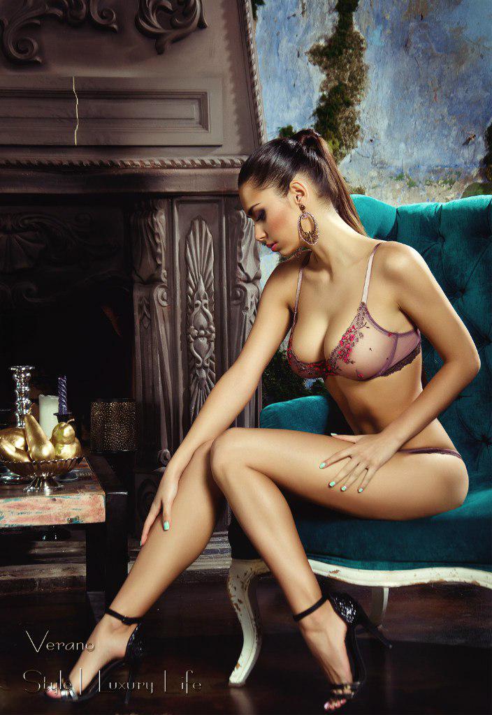 Helga Lovekaty in lingerie