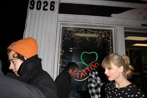 Taylor Swift - at Shamrock Tattoo 12/18/12