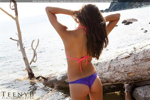 Vanessa Hanson in a bikini - ass