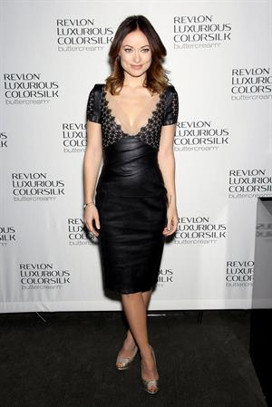 Olivia Wilde at the Revlon Luxurious ColorSilk Buttercream launch in NYC 07.02.13