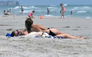 Olivia Wilde in a Bikini on the beach in Wilmington,North Carolina 8/22/12
