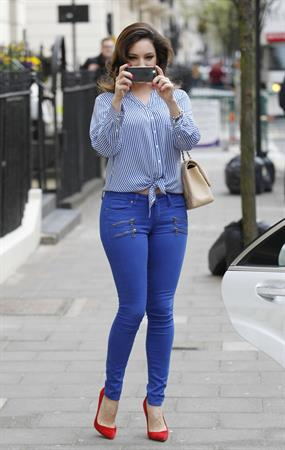 Kelly Brook - Leaving Her London Home April 17, 2013