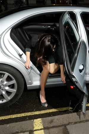 Kelly Brook arriving home after filming 'Celebrity Juice' in London 3/13/13