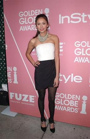 Nina Dobrev 2nd annual Golden Globes party saluting young Hollywood held at Nobu Los Angeles in West Hollywood