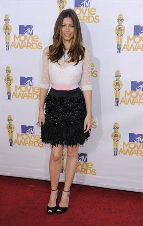 Jessica Biel at 2010 MTV Movie Awards June 6, 2010