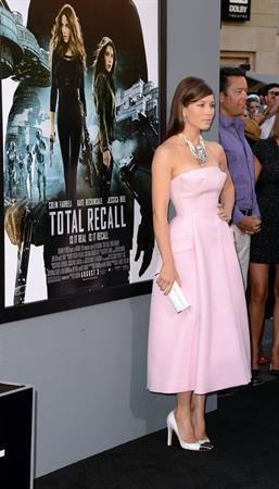 Jessica Biel  Total Recall  Los Angeles Premiere - August 1 2012