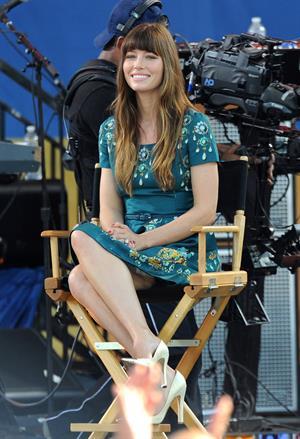 Jessica Biel Good Morning America in New York 03.08.12