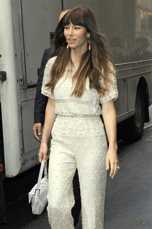 Jessica Biel - Kiss 100 Radio Station in London, August 16, 2012