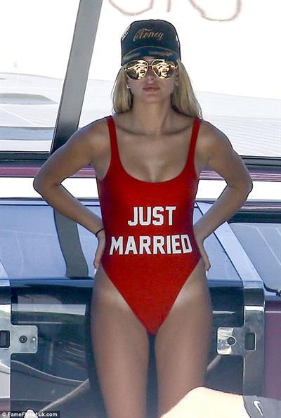 Hailey Baldwin in a bikini