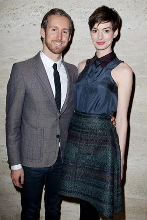 Anne Hathaway A Lunch to Celebrate Launch of 'LES MISERABLES at the Four Seasons Restaurant in NYC