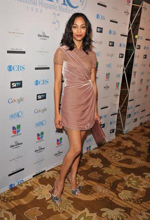 Zoe Saldana  14th Annual NHMC Impact Awards -- Beverly Hills, Feb. 25, 2011