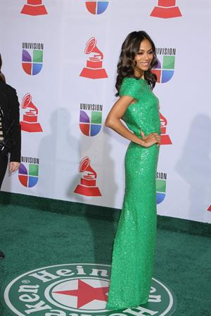 Zoe Saldana 12th Annual Latin Grammy Awards in Las Vegas, Nevada - November 10-2011