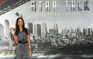Zoe Saldana at the Star Trek Madrid Photocall