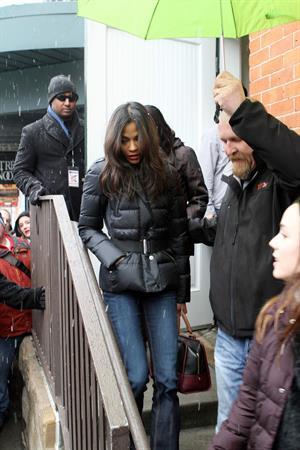 Zoe Saldana at the Sundance Film Festival on January 26-2012