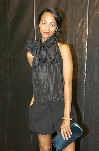 Zoe Saldana Louis Vuitton Collection during Paris Fashion Week October 7, 2009