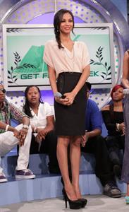 Zoe Saldana - Visits BET's  106 & Park  at BET Studios in New York - Apr. 22, 2010