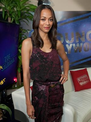 Zoe Saldana Visits YoungHollywood.com at Young Hollywood Studio -- Los Angeles, Aug. 24, 2011