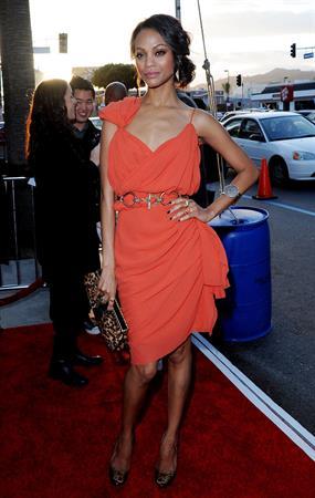 Zoe Saldana @ Death At A Funeral Los Angeles Premiere 12/04/10