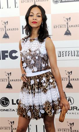 Zoe Saldana - 2011 Film Independent Spirit Awards at Santa Monica Beach (Feb. 26, 2011)