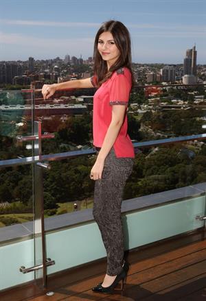 Victoria Justice Intercontinental Hotel Portraits in Sydney 11/11/12