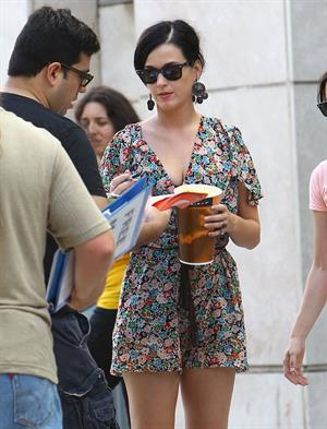 Katy Perry out at the movies with some friends at the Arclight Cinemas in Hollywood 11 August 11, 2012