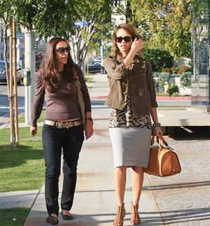 Jessica Alba at Bel Bambini in West Hollywood January 19, 2011