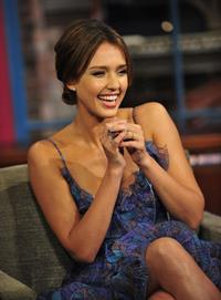 Jessica Alba on the Late Show with David Letterman on August 30, 2010