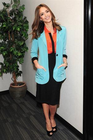 Jessica Alba on the set on Good Day LA on January 25, 2012