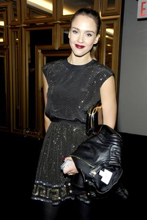 Jessica Alba Versace for H&M Fashion Event at the H&M on November 8 2011