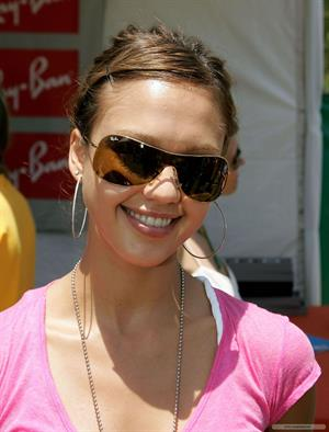 Jessica Alba - Target A Time for Heroes in LA 6/13/04 to Benefit the Elizabeth Glaser Pediatric AIDS Foundation carnival