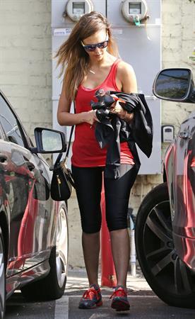 Jessica Alba leaves pilates class in LA 6/2/13
