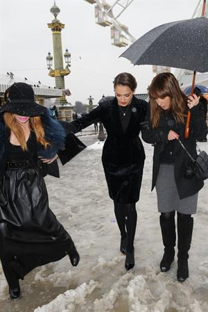 Jessica Alba Christian Dior S/S 2013 Haute Couture show at Paris Fashion Week 1/21/13
