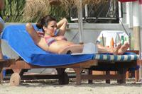 Eva Longoria Wearing a bikini on holiday in Marbella 04.08.13