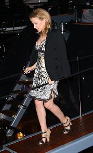 Kylie Minogue Arrives at Roberto Cavalli's Boat Party in Cannes 22.05.13