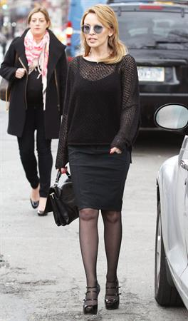 Kylie Minogue - Greets the fans in New York City (28.02.2013)