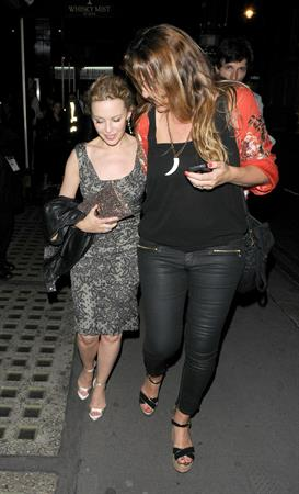 Kylie Minogue - seen leaving Whisky Mist, following a night out in London, 29072012