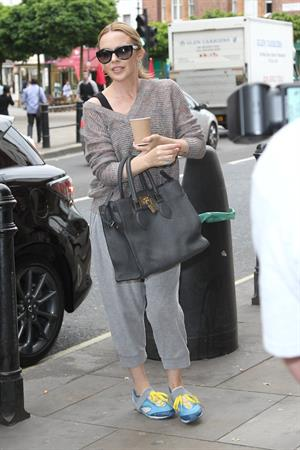 Kylie Minogue - Arriving at a dance studios in Fulham - May 31, 2012
