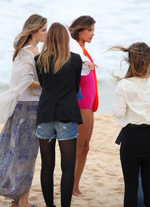 Alessandra Ambrosio photoshoot for Colcci Fashion Line on Panema Beach in Rio de Janeiro 14.06.11